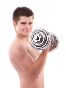Free Muscular Man Lifting Weights Stock Images - 20235704