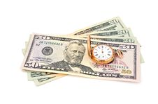 Free Dollars And  Gold Watch Stock Photo - 20236030