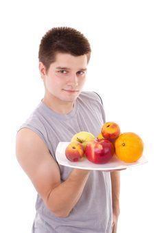 Free Men Hold Fruits Stock Image - 20236061
