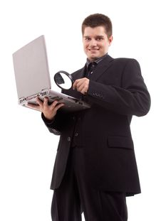 Free Man With Laptop Stock Image - 20237081