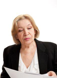 Free Senior Woman In Black On White Background Royalty Free Stock Photos - 20238608