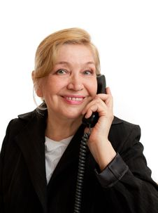 Free Senior Woman Talking On The Phone Stock Photos - 20238623