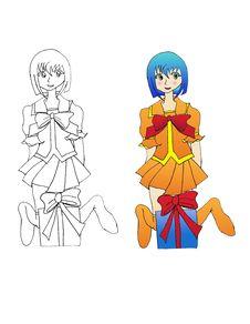 Free Merry Christmas Anime Style Stock Image - 20238811