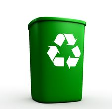 One Container For Recycling Royalty Free Stock Photo