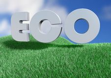 Free Eco Letters On A Grass Field Royalty Free Stock Image - 20239646