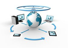 Free Wireless Global Network Visualization Stock Photography - 20239682
