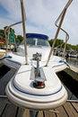 Free Motor Boat Docked In The Marina. Stock Photo - 20240870