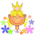 Free Little Princess Of Flowers Stock Photography - 20241912