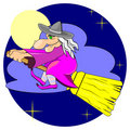 Free Witch In The Sky Royalty Free Stock Photography - 20242027