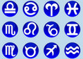 Free Zodiac Signs Circles Dark Blue Stock Photo - 20242690
