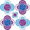 Free Grunge Flowers Pattern Royalty Free Stock Photos - 20242888