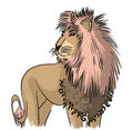 Free Drawing Standing Lion Royalty Free Stock Photos - 20245218