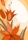 Free Postcard With Lilies 2. Stock Images - 20245904