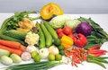 Free Mixed Vegetables On White Table Royalty Free Stock Photos - 20249858