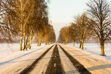 Free Winter Road Stock Photography - 20240022