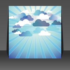 Free Abstract Cloud Background Flyer Design Stock Image - 20240051