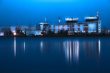 Free Nuclear Power Plant At Night In South Ukraine Royalty Free Stock Images - 20240569