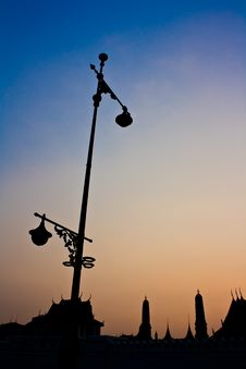 Free Silhouette Of  Wat Phra Kaew Royalty Free Stock Image - 20240616