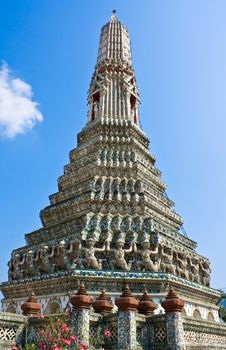 The Ancient Temple At Wat Arun, Bangkok Stock Photos