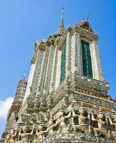 The Ancient Temple At Wat Arun, Bangkok Royalty Free Stock Photography
