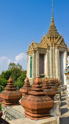 The Ancient Temple At Wat Arun, Bangkok Stock Images