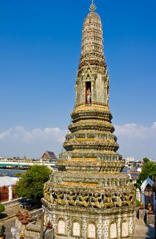 The Ancient Temple At Wat Arun, Bangkok Royalty Free Stock Photos