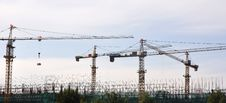 Free Cranes On Site Stock Photography - 20240782