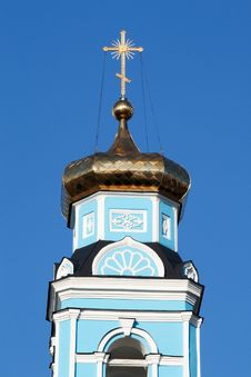 Dome Of The Orthodox Russian Church Royalty Free Stock Photography