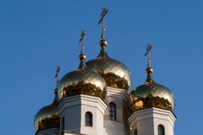 Free Four Domes Of The Orthodox Church Royalty Free Stock Photos - 20240948