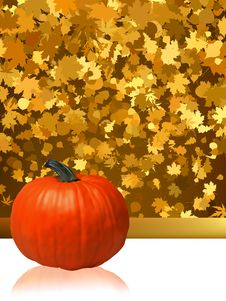 Free Composition For Thanksgiving Invitation. EPS 8 Stock Photography - 20241152