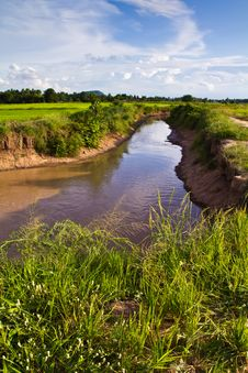 Free Irrigation Canal Royalty Free Stock Photos - 20241158