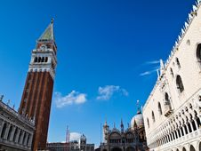 The San Marco Square In Venice, Italia Royalty Free Stock Photo