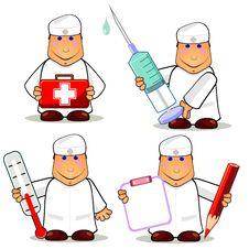 Free Four Cartoon Doctors Royalty Free Stock Image - 20242136
