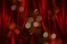 Free Blurred Light And Red Silk Curtains Royalty Free Stock Images - 20242809