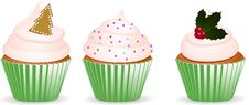 Free Christmas Cupcakes Stock Images - 20242834