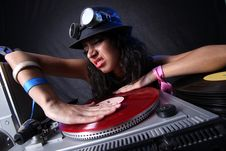 Free Cool DJ In Action Royalty Free Stock Photography - 20242877