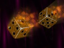 Free Flying Mosaic Dice Stock Images - 20242904