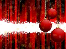 Free Red Christmas Bauble Background Royalty Free Stock Photo - 20242915