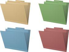 Free Manila Folders Vector Illustration Royalty Free Stock Photography - 20242967
