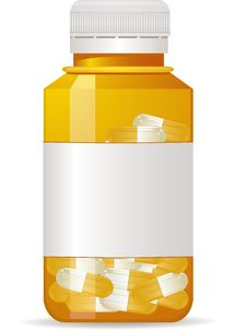 Pill Bottle With Pills Stock Image