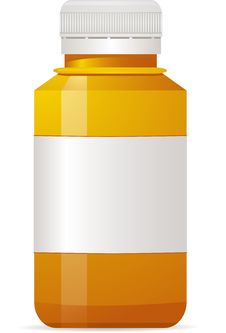 Free Empty Pill Bottle Royalty Free Stock Photography - 20242987
