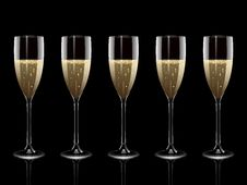 Free Reflected Champagne Flutes Royalty Free Stock Photo - 20243005