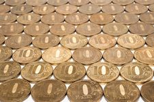 Free Background Of The Ten Ruble Coin Stock Image - 20243211