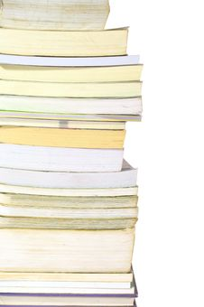 Stack Of Books On White Background Stock Image