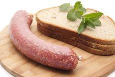 Free Garlic Salami Royalty Free Stock Photo - 20243605