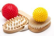 Back And Massage Brush Stock Image
