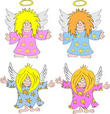Free Angel Cartoon Royalty Free Stock Image - 20244586