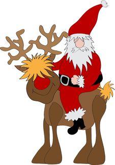 Free Santa Claus Reindeer Stock Photo - 20244610