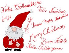 Free Multilingual Christmascard Royalty Free Stock Photography - 20244687
