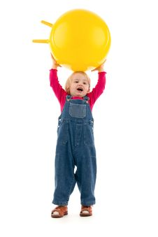 Free Child With Ball Stock Photo - 20245290